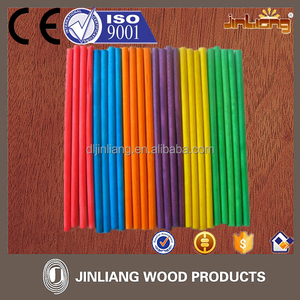 Colored Birch Wood Round Sticks