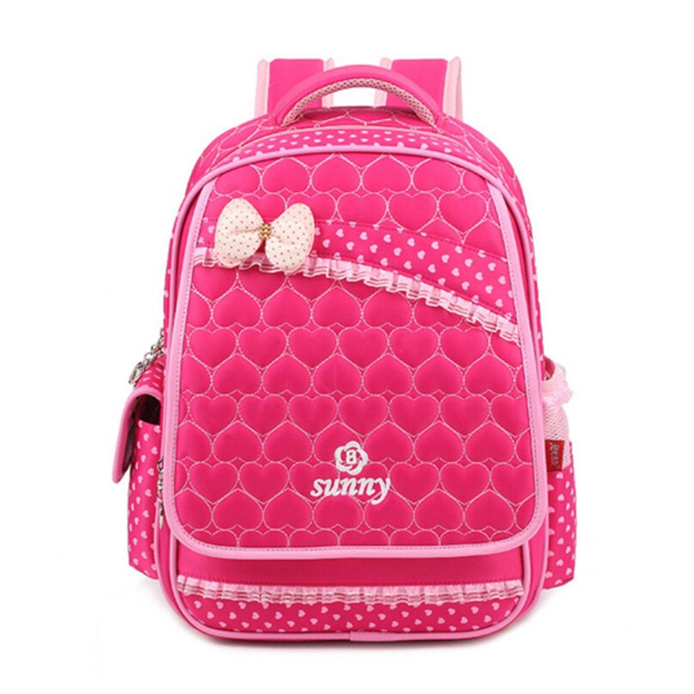 pink bow school bags for girls polka dot kids bag women backpack waterproof  bagpack girl school 9461d0e6aad8c