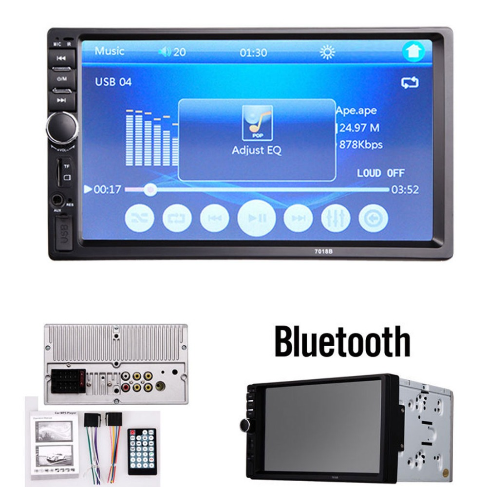7 Inch LCD HD Double DIN Car In Dash Touch Screen