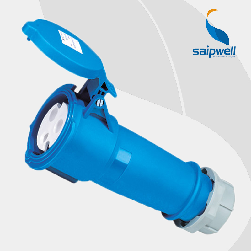 Wholesale Saipwell industrial socket 3P 32A 230V IP44 EN / IEC 60309-2 waterproof female socket adaptor Industrial Coupler SP522