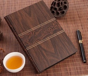 Custom Printed High Quality Luxury Bamboo Notebook Diary A4 A5 B5 Size Wood Notebook For Business Gift