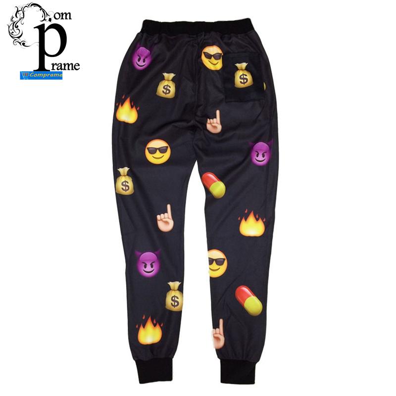 Buy Women Men Emoji 3D white 100 Score Sweatpants Joggers Pants (XL