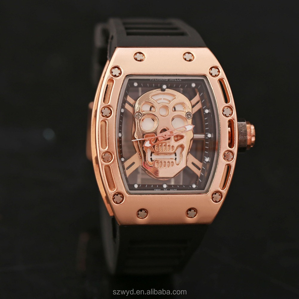 Cool <strong>Men</strong> Skeleton Hollow Quartz Analog Wrist Watches Top Brand Watches Manufacturer Supplier Exporter
