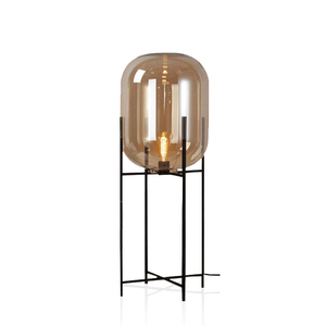 Famous designer metal glass Office decorative modern fancy floor lamp