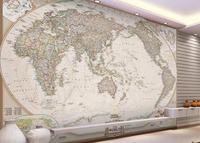 3d wallpaper walls of world map 3d Wall Panels Interior Mural Customize