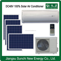 DC48V 12000BTU 18000BTU 100% home wall variable solar auto air conditioning in hvac system