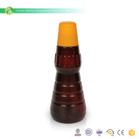 Wholesale cheapest 450ml small bbq sauce plastic amber pet bottle