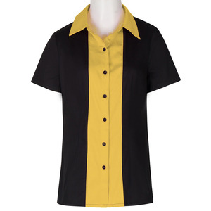 New Style Custom Design Plain Blank Working Shirts Full Button Uniform For Women