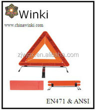 Winki 2014 BEST SELLing High Visibility PMMA/ABS Warning Triangle, can be seen in tough weather