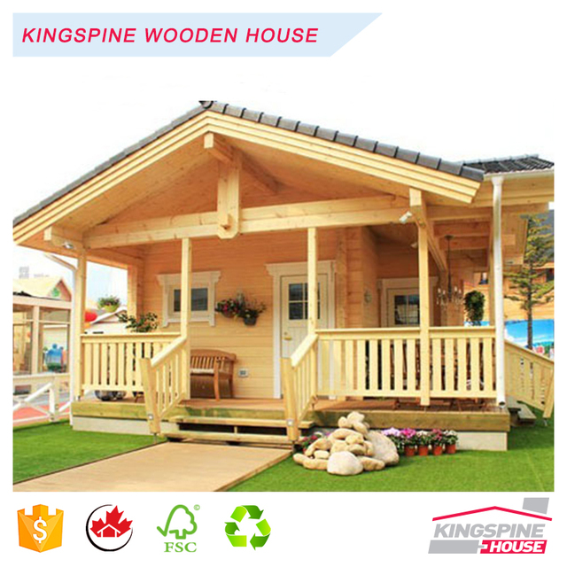 China Manufacturer Low Price Wooden Prefabricated Home Log Cabin House  KPL 046