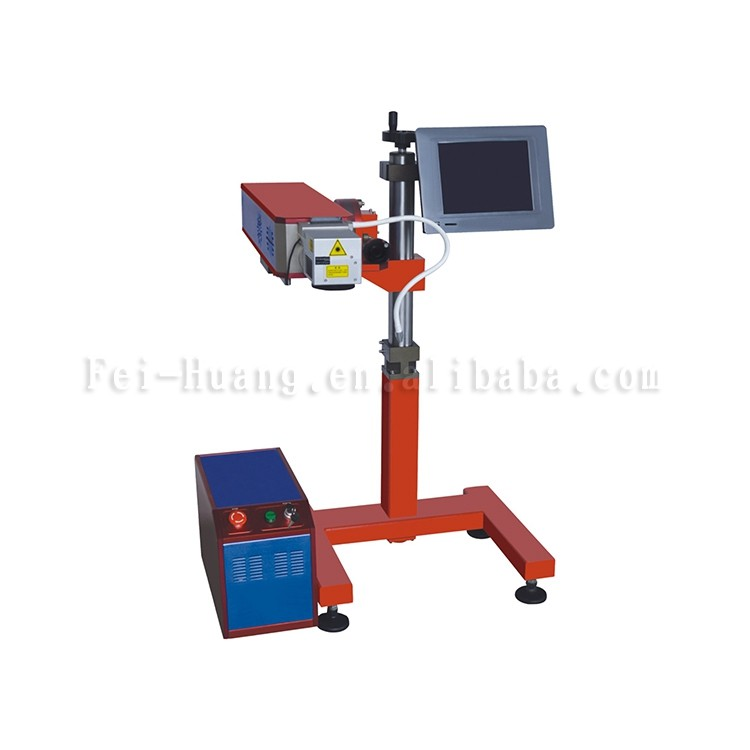 Popular anti corrosion carbon dioxide portable color CO2 fiber laser marking machine for metal