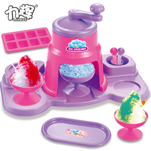 Interesting kitchen ice shaver machine crusher ice cream maker toy for kids