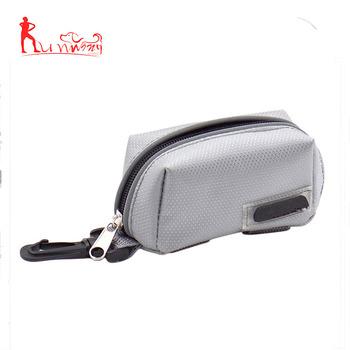 693eff567d Canvas Nylon Zipper Pet Dog Refuse Bag Dog Poop Bag Holder Leash Attachment  -Grey