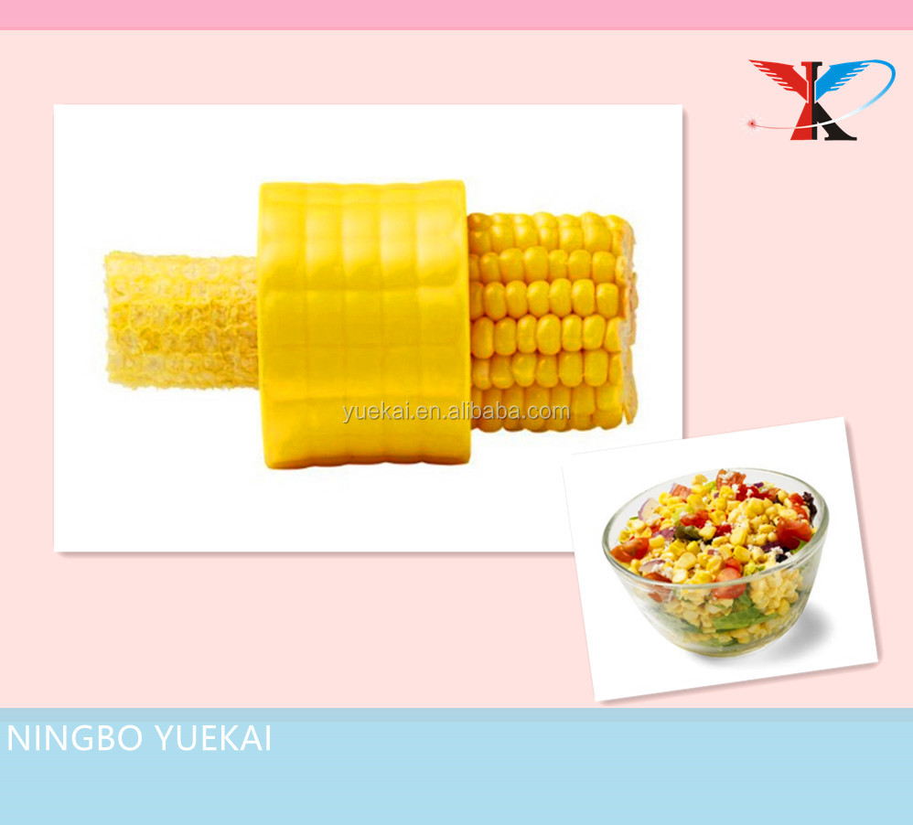 Safely strip whole cobs of corn Plastic corn stripper