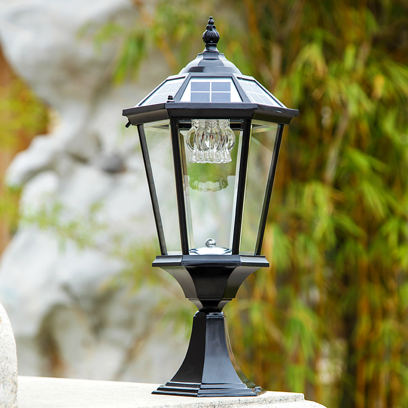 2w Outdoor Solar Powered Rechargeable Pillar Lamps