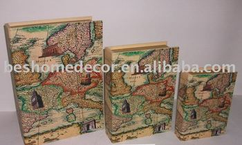 World map book box for storagedecoration buy book boxhome world map book box for storagedecoration gumiabroncs Image collections