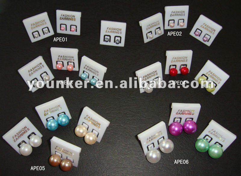 Wholesale & Retail! 2012 Fashion High Quality Abs Pearl Stud Earring,Earring Studs