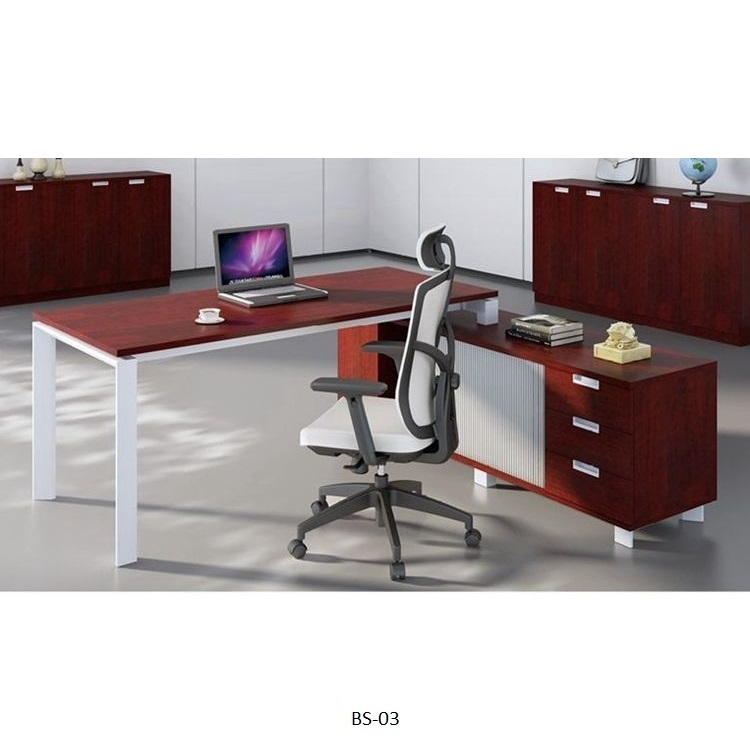 Moderne houten L vorm home office boss ceo manager executive meubels hoek teller computer tafel bureau