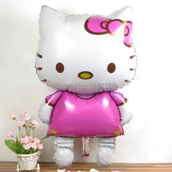 116x68cm הלו קיטי חתול רדיד בלונים קריקטורה יום הולדת קישוט מסיבת חתונה מתנפחים בלוני אוויר צעצועים קלאסיים