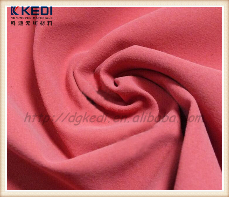 Color fastness stretch waterproof breathable fabric super suede micro fiber