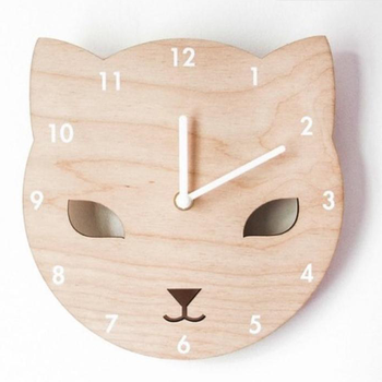 Personalized natural wooden Wall clock