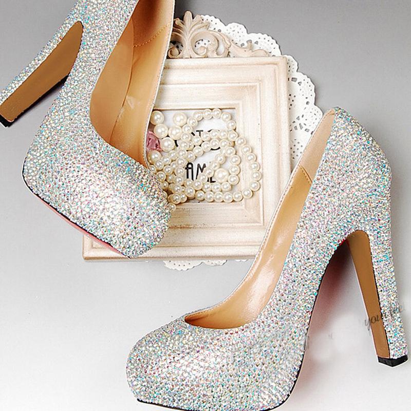 Chunky Wedding Heels: Chunky Heel Wedding Shoes Peep Toe Prom Party Platforms