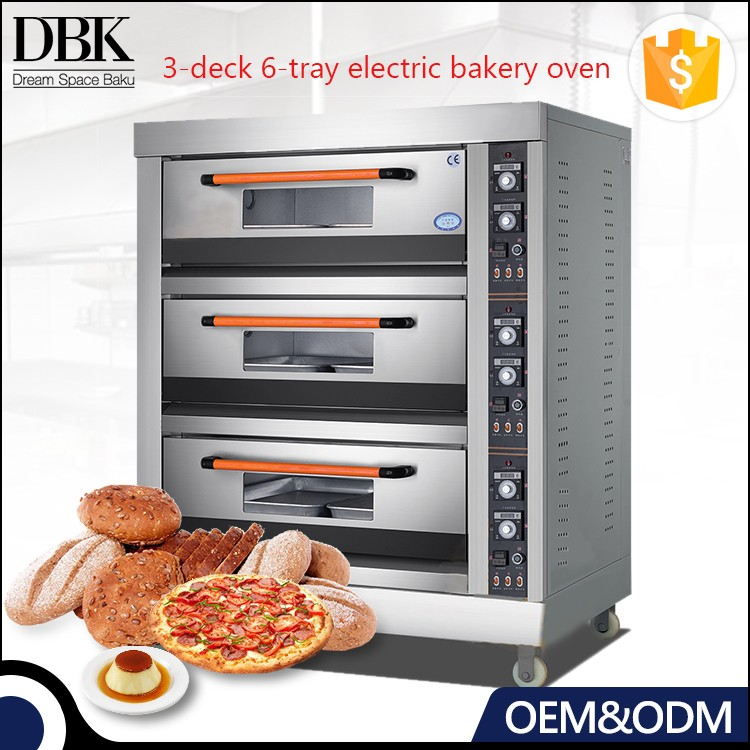 DBK 3deck professional bakery deck baking oven /gas or electric Bakery machinery for bread making/pizza oven