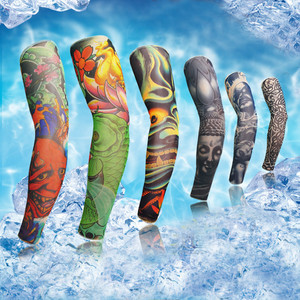 Elastic Tattoo Sleeve 1Pcs Riding UV Care Nylon Stretchy Arm Stockings To Choose Outdoor Fake Temporary Tattoo Sleeve