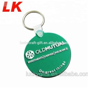 Custom Soft PVC Keychain cute design live animal rubber keychain