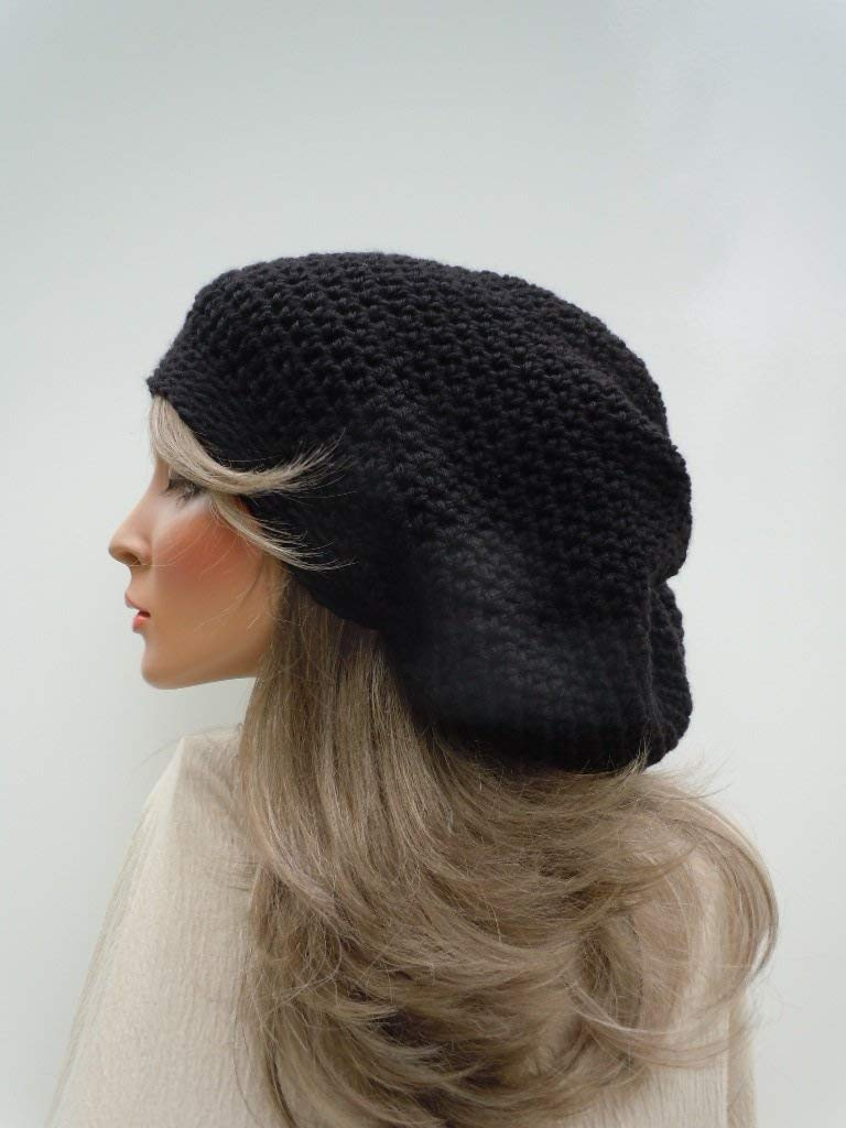 Get Quotations · Black Slouchy Beanie 9d20ac96ac0