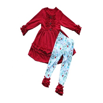 kids clothes boutique wholesale Holiday`s kids clothing stores online remake plus size kids outfits sets