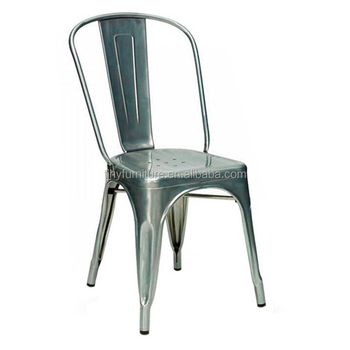 Multi Colored Retro Vintage Metal Stacking Dinning Dinner Chair