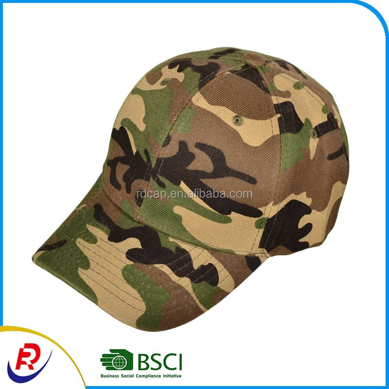 Customized logo cotton promotion mountaineer outdoor sports brand camo hat army caps camouflage military green hats baseball