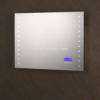 customized order welcome smart led backlit mirror with sm