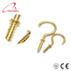 Carbon Steel Brass Plated Eye Hook Bolt Cup Screw