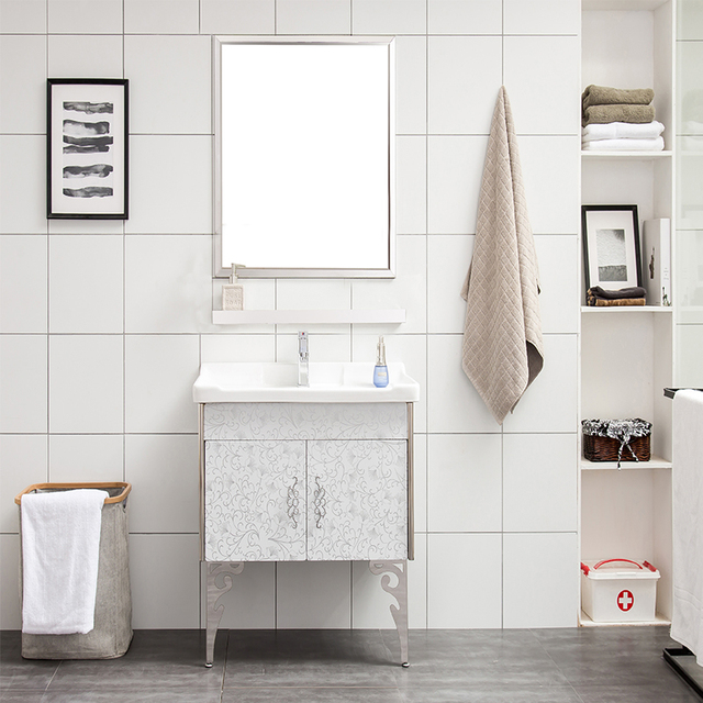 Stainless Steel Bathroom Vanity Top Cabinet