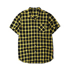 plus-size short-sleeved shirt loose grid unlined upper garment of men's leisure half sleeve shirt in summer