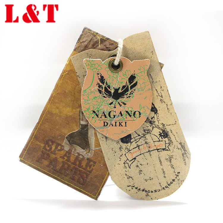 China Luxury Fancy Matte Lamination Paper Swing Tag For Women Bags