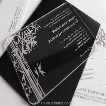 Modern Design Acrylic Wedding Invitation Card Wholesale - Buy ...