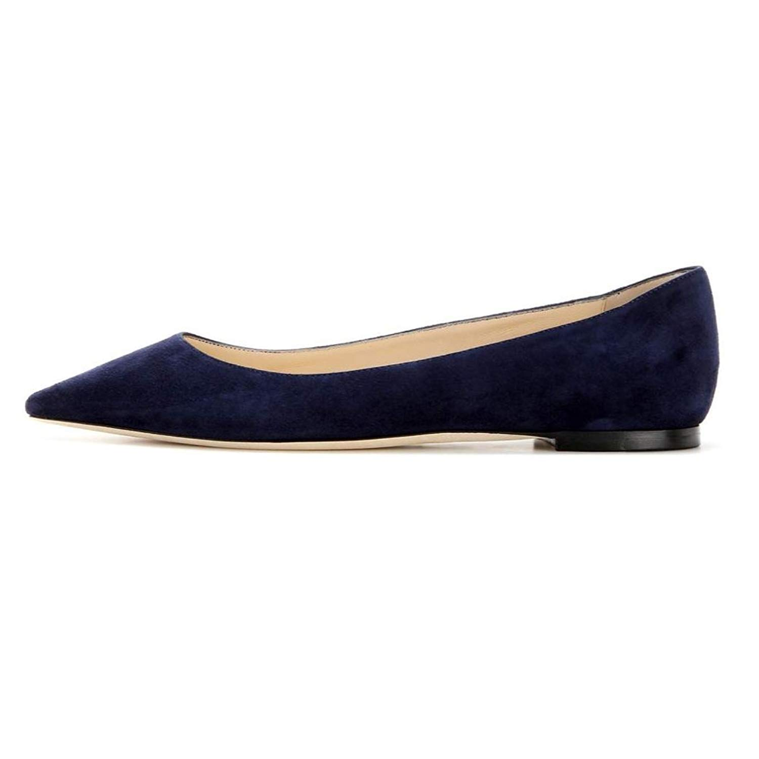 Sammitop Women's Pointed Toe Flats Cut-outs Ballet Shoes Slip-on Casual Shoes