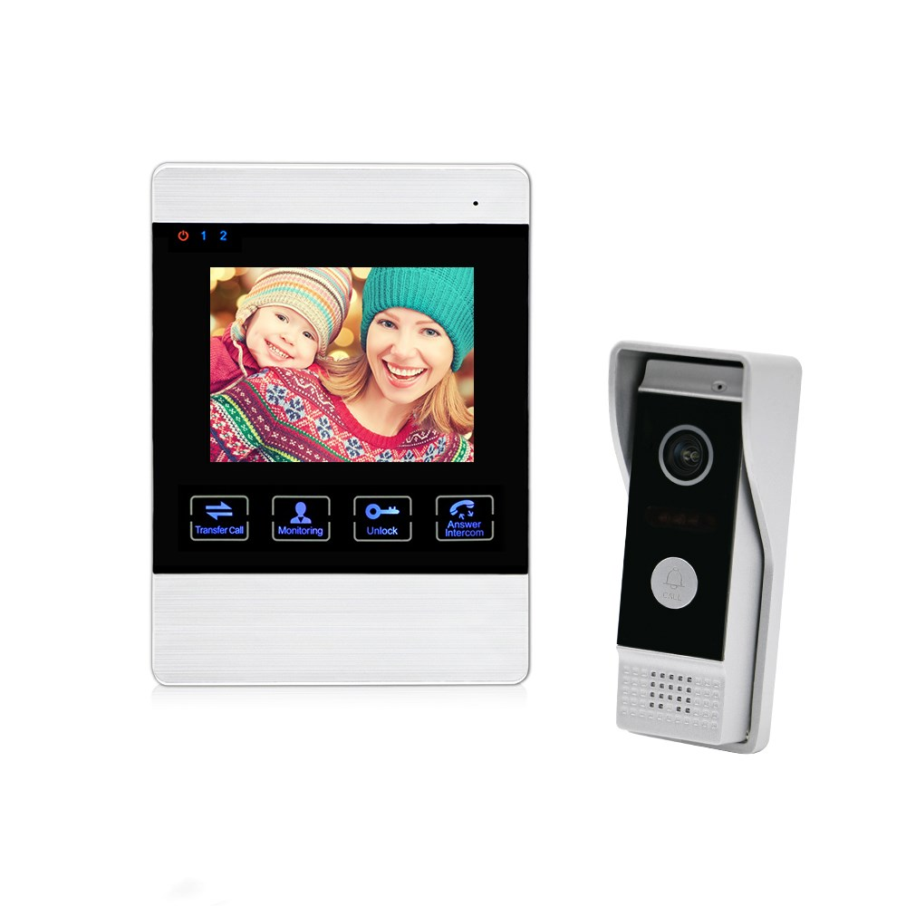 Competition Door Phone Multi Apartments 2 Wire Video Intercom System