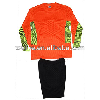 neon soccer goalie jerseys Source · Top Quality Goalkeeper Jersey With Pants  Orange Soccer Uniform Set 60bc97941