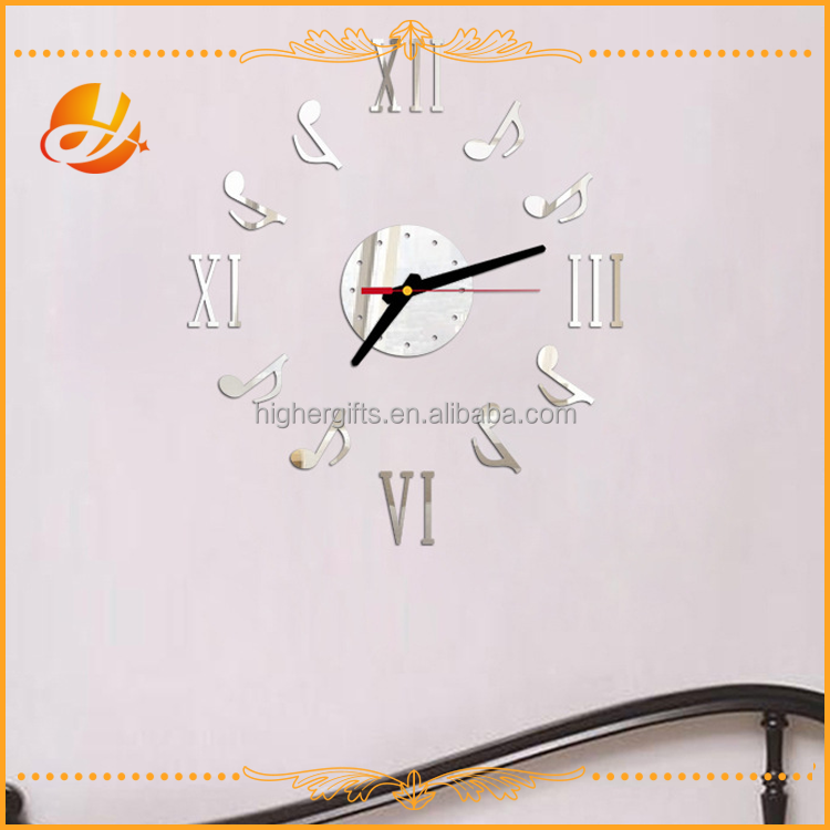decorative musical style quartz clock movement wall clock