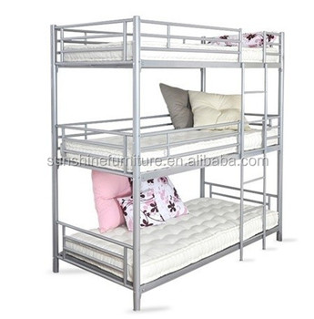 A La Mode Facile Assemblage Enfants Adulte En Metal Triple Lit