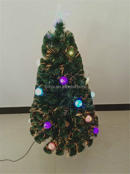 colorful ball lights pvc fiber optic christmas tree with top star warm white led christmas