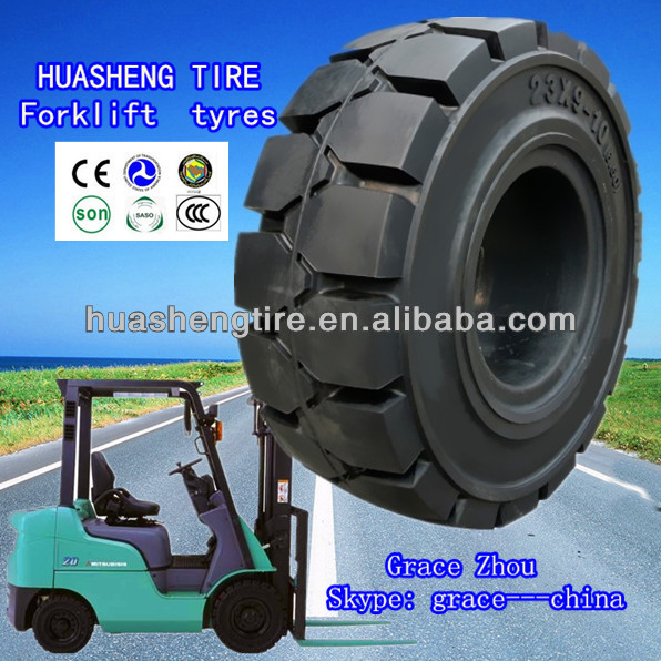 Hot sale high quality Rubber forklift solid tyre 23x9-10 chinese tyre brand weifang city shandong china manufacture
