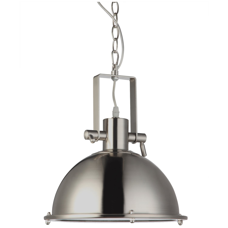 "VONN VVP21021SN Dorado Collection LED Industrial Pendant Adjustable Hanging Light, 11"", Satin Nickel"
