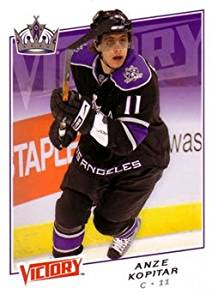 Anze Kopitar 2008-09 Upper Deck Victory NHL Hockey Card #102 Los Angeles Kings