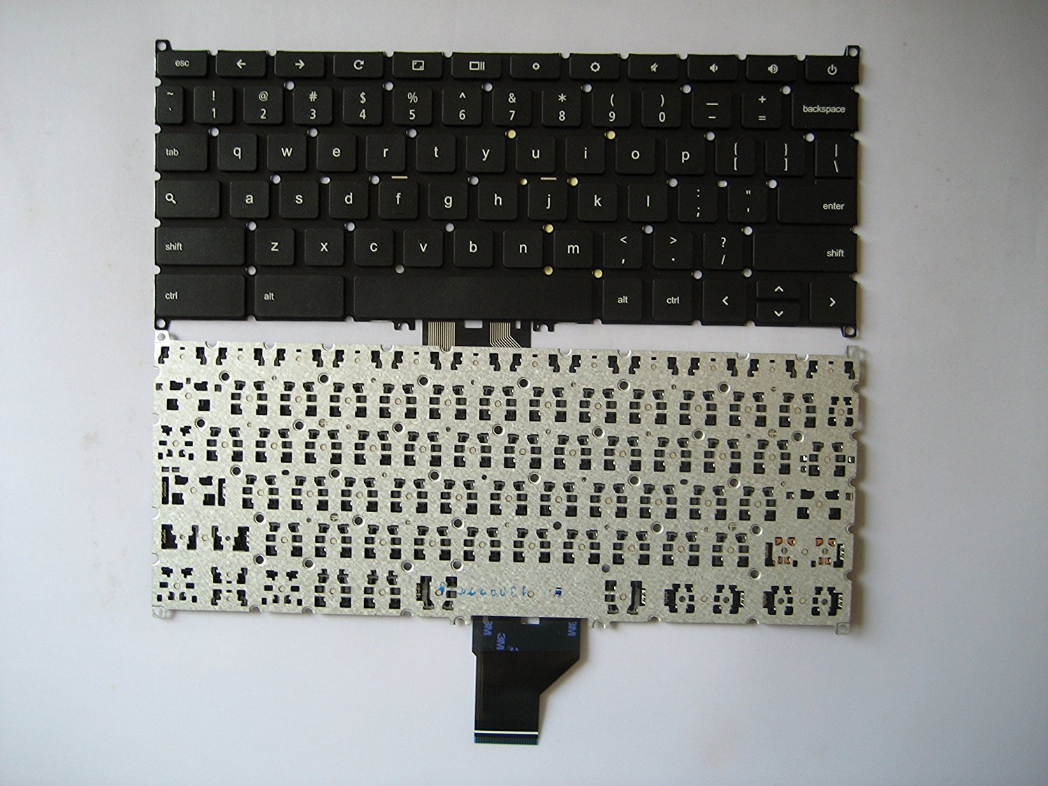 Lotfancy Laptop Replacement keyboard for Acer Chromebook C720 C720P C720-2848 Keyboard 9Z.NB0SQ.001 NSK-RA0SQ 01 AEZHNU00010 ZHN NK.I1117.026 without frame version US layout Black