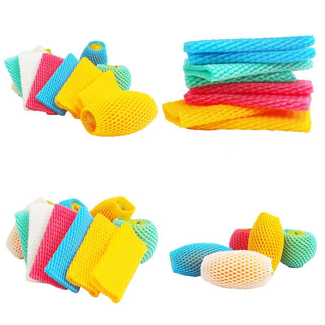 Bubble wrap morbido materiali di imballaggio di plastica di protezione manica della maglia